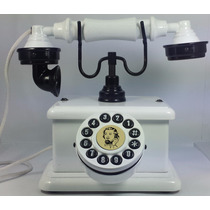 Telefone Antigo Vintage Retro Nelphone Lord Branco