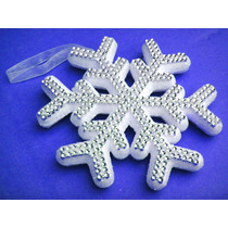 Copo De Nieve Con Brillantes Fiesta Esferas Frozen Navidad