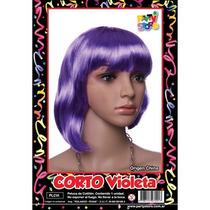 Peluca Corto Violeta Cotillon
