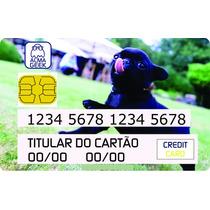Pug Black - Adesivo Cartão De Crédito E Débito - Pug Preto