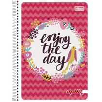 Caderno Flexível 10 Mat 200 Fls Mais+ Feminino Enjoy 2016