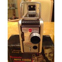 Camera Filmadora 8 Mm Brownie Kodak Anos 50 Com Manual