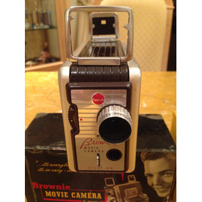 Camera Filmadora 8 Mm Brownie Kodak Anos 50 Com Manual