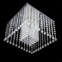 Lustre Cristal Acrilico Plafon Quadrado 30x30x17cm - Jp/mito