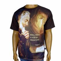 Linda Camiseta Padre Pio - Lembrança Padre Pio