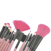 12 Brochas Profesionales Maquillaje Estuche