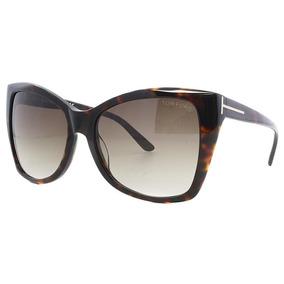 Oculos Feminino Tom Ford Carli Marrom Tartaruga Original