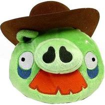 Angry Birds Felpa De 6 Pulgadas De Cerdo Con Sombrero De Va