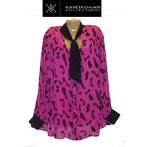 Envio Blusa Top Xxl 2x Grande Rosa Kardashian Collection 22w