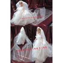 Vestido Noiva Boneca Barbie Luxo