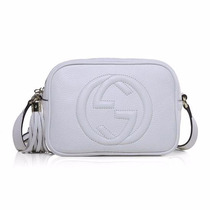 Bolsa Chique Gucci Soho Disco Branca De Luxo