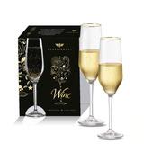 Taça Cristal Para Vinho Champagne Elegance De 260ml 2 Peças