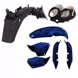 Kit Carenagem Plástico P/ Cg 125 Titan 125 Ano 2003 - Azul