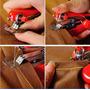 Mini Máquina De Costura Tecidos Portátil Manual.