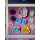Flores En Masa Flexible (rosas)