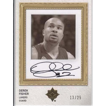 2008-09 Ultimate Autografo Derek Fisher /25 Lakers