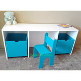 Mesa,escritorio ,silla,cubo Juguetero ,bebé Organizador