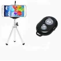 Mini Tripé Camera Digital Suporte Celular Controle Bluetooth
