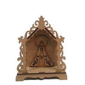 Oratório - Pequeno Capela Nossa Senhora Religioso Santo Mdf