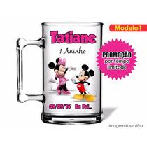 Kit C/ 50 Canecas Acrílica Mickey E Minnie Rosa 350ml