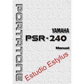 Manual Do Teclado Yamaha Psr 240 Em Português