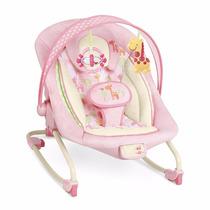 Cadeira Cadeirinha De Descanso E Balanço 18 Kg Light Pink