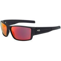 Hb Vert - Óculos De Sol Matte Black/ Red Espelhado