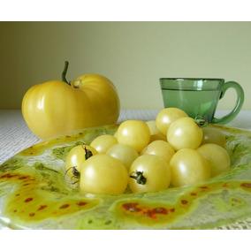 20 Semillas De Tomate Cherry White Snow Heirloom