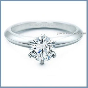 Anillo De Compromiso Diamante Natural .70ct En Platino -50%