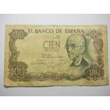 España 100 Pesetas Fecha 1970