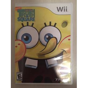 Jogo Sponge Bob Truth Or Square (bob Esponja) [wii] - Novo