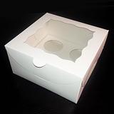 Caja Para 4 Cupcakes Standard 4 Ponquesitos Dulces Macarons