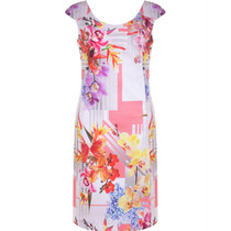 Vestido Estampado Floral Social Seiki Nitrogen Reto Em Sarja