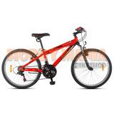 Bicicleta Juvenil Mtb Aurora 24 Asx 18v Suspension Delantera