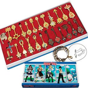 Set 25 Llaves Fairy Tail Envio Gratis Collar Llavero Zodiaco