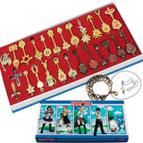 Set 25 Llaves Fairy Tail Envio Grais Collar Llavero Zodiaco