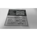 Plaquetas Placas De Identificação Em Alumínio Ou Inox