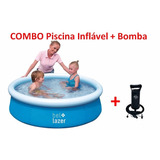 Piscina Inflável 500 Litros + Bomba Manual Bel Fix