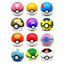 Set De 10 Pokebola / Pokeball Vario Color Juguete Pokemon