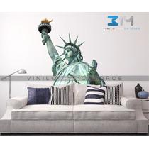 Vinilo Decorativo Estatua De La Libertad 01 Nueva York Calca