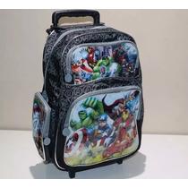 Mochila Rodinha Vingadores Avengers Escola Infantil Original