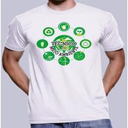 Camisa Camiseta Estampa Curso Técnico Em Meio Ambiente