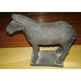 Antigua Replica En Terracota De Caballo Chino De Xian 10 Cm