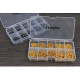 Kit Anzóis - 600 Pçs Do 3# Ao 12# - Aço Carbono - Dourado