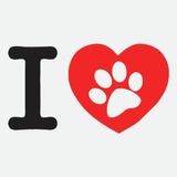 Adesivo I Love Eu Amo Cachorro 10cm X 6cm A053