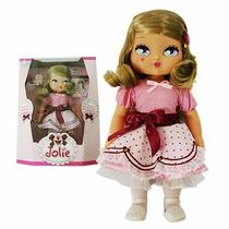 Boneca Jolie Castanho Claro Infantil Grande - Exclusividade