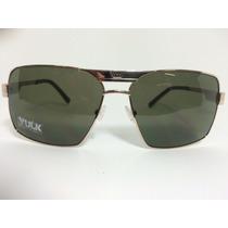 Óculos Vulk Bronx Metal Dourado Ideal Para Rosto Grande