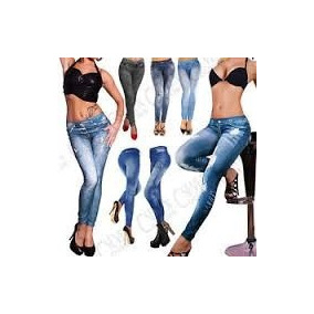 Calza Leggins Slim Tipo Jeans Standard