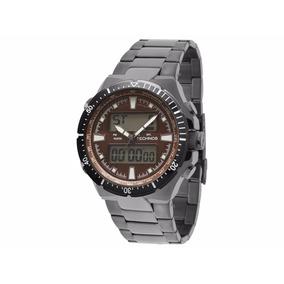 Relógio Technos Anadigi Masculino Cor: Chumbo 0527aa/1p