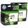 Combo Cartuchos Hp 675 Originales Negro Y Color 4400 4575